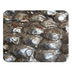 Festive Silver Metallic Abstract Art Double Sided Flano Blanket (large)