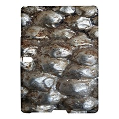 Festive Silver Metallic Abstract Art Samsung Galaxy Tab S (10 5 ) Hardshell Case  by yoursparklingshop