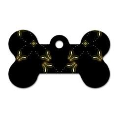 Festive Black Golden Lights  Dog Tag Bone (one Side) by yoursparklingshop