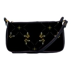Festive Black Golden Lights  Shoulder Clutch Bags by yoursparklingshop