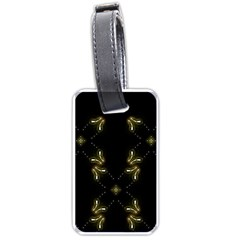 Festive Black Golden Lights  Luggage Tags (two Sides) by yoursparklingshop
