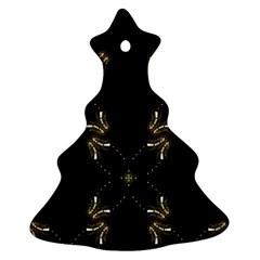 Festive Black Golden Lights  Ornament (christmas Tree) by yoursparklingshop