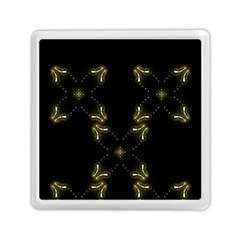 Festive Black Golden Lights  Memory Card Reader (square)  by yoursparklingshop