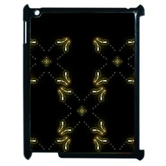 Festive Black Golden Lights  Apple Ipad 2 Case (black) by yoursparklingshop