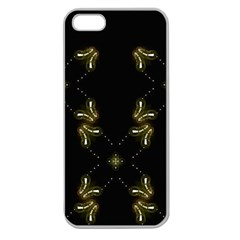 Festive Black Golden Lights  Apple Seamless Iphone 5 Case (clear) by yoursparklingshop