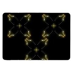 Festive Black Golden Lights  Samsung Galaxy Tab 8 9  P7300 Flip Case by yoursparklingshop