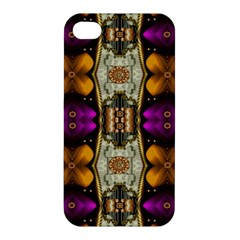 Contemplative Floral And Pearls  Apple Iphone 4/4s Premium Hardshell Case