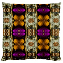 Contemplative Floral And Pearls  Standard Flano Cushion Case (one Side) by pepitasart