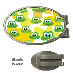 Cute Frog Family Whimsical Funny Money Clips (oval)  by CircusValleyMall
