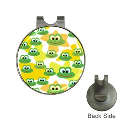 Cute Frog Family Whimsical Funny Hat Clips With Golf Markers by CircusValleyMall