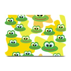 Cute Frog Family Whimsical Funny Plate Mats by CircusValleyMall