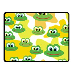 Cute Frog Family Whimsical Funny Fleece Blanket (small) by CircusValleyMall