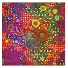 Circle Fantasies Large Satin Scarf (square) by KirstenStar