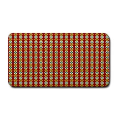 Christiane Anna  Small Pattern Red Yellow Green White Medium Bar Mats by CircusValleyMall