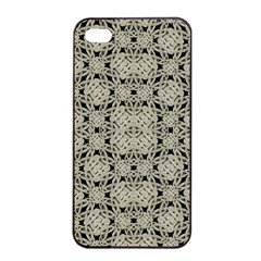 Interlace Arabesque Pattern Apple Iphone 4/4s Seamless Case (black) by dflcprints