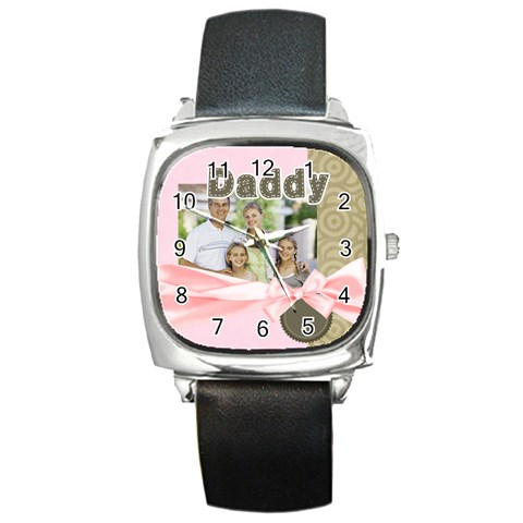 Dad By Dad   Square Metal Watch   X12c1nyzn9h4   Www Artscow Com Front