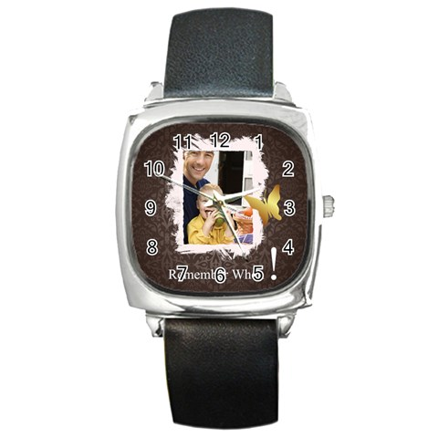Dad By Dad   Square Metal Watch   5epcmrd6hp5k   Www Artscow Com Front
