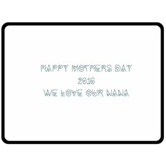 Mothers Day Blanket By Crystal   Double Sided Fleece Blanket (large)   Swrcfn7yznpy   Www Artscow Com 80 x60 Blanket Back