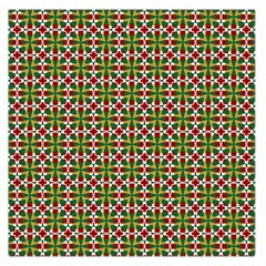Christiane Xandra Small Pattern Green Red Yellow Large Satin Scarf (square)