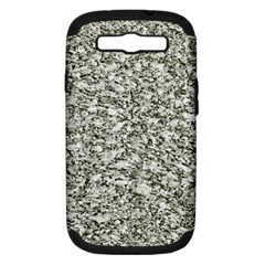 Black and White Abstract Texture Samsung Galaxy S III Hardshell Case (PC+Silicone) by dflcprints