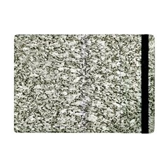 Black And White Abstract Texture Apple Ipad Mini Flip Case by dflcprints