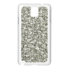 Black And White Abstract Texture Samsung Galaxy Note 3 N9005 Case (white) by dflcprints