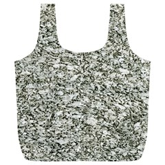 Black And White Abstract Texture Full Print Recycle Bags (l)  by dflcprints