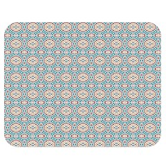Anita Silvia Red Teal Peach Blue Pattern Double Sided Flano Blanket (medium)  by CircusValleyMall