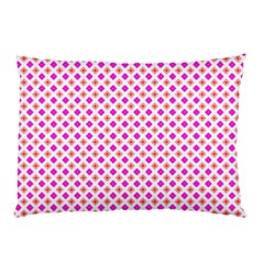 Rigmor Pattern In Purple Peach Red And White Pillow Case by CircusValleyMall
