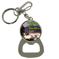 Happy Halloween Night Witch Flying Bottle Opener Key Chains by canvasngiftshop
