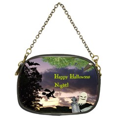 Happy Halloween Night Witch Flying Chain Purses (two Sides)  by canvasngiftshop