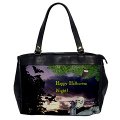 Happy Halloween Night Witch Flying Office Handbags