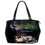 Happy Halloween Night Witch Flying Office Handbags Front