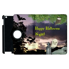 Happy Halloween Night Witch Flying Apple Ipad 2 Flip 360 Case by canvasngiftshop