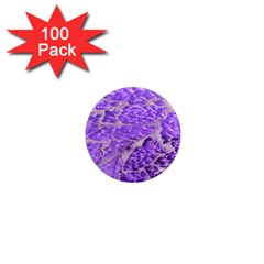 Festive Chic Purple Stone Glitter  1  Mini Magnets (100 Pack)  by yoursparklingshop