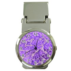 Festive Chic Purple Stone Glitter  Money Clip Watches by yoursparklingshop