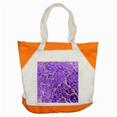 Festive Chic Purple Stone Glitter  Accent Tote Bag by yoursparklingshop