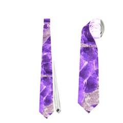 Festive Chic Purple Stone Glitter  Neckties (two Side)