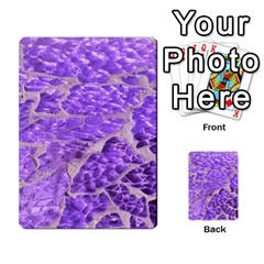 Festive Chic Purple Stone Glitter  Multi Purpose Cards (rectangle)