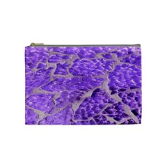 Festive Chic Purple Stone Glitter  Cosmetic Bag (medium)  by yoursparklingshop