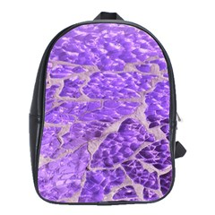 Festive Chic Purple Stone Glitter  School Bags(large)  by yoursparklingshop