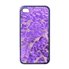 Festive Chic Purple Stone Glitter  Apple Iphone 4 Case (black) by yoursparklingshop