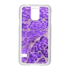 Festive Chic Purple Stone Glitter  Samsung Galaxy S5 Case (white) by yoursparklingshop