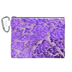 Festive Chic Purple Stone Glitter  Canvas Cosmetic Bag (xl)  by yoursparklingshop