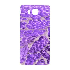 Festive Chic Purple Stone Glitter  Samsung Galaxy Alpha Hardshell Back Case by yoursparklingshop