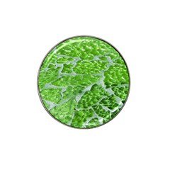Festive Chic Green Glitter Shiny Glamour Sparkles Hat Clip Ball Marker (4 Pack) by yoursparklingshop