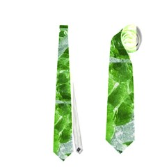 Festive Chic Green Glitter Shiny Glamour Sparkles Neckties (Two Side)  by yoursparklingshop