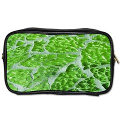 Festive Chic Green Glitter Shiny Glamour Sparkles Toiletries Bags by yoursparklingshop