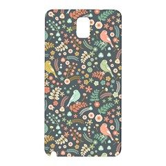 Vintage Flowers And Birds Pattern Samsung Galaxy Note 3 N9005 Hardshell Back Case