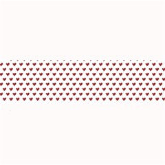 Ruby Red Small Hearts Pattern Large Bar Mats by CircusValleyMall